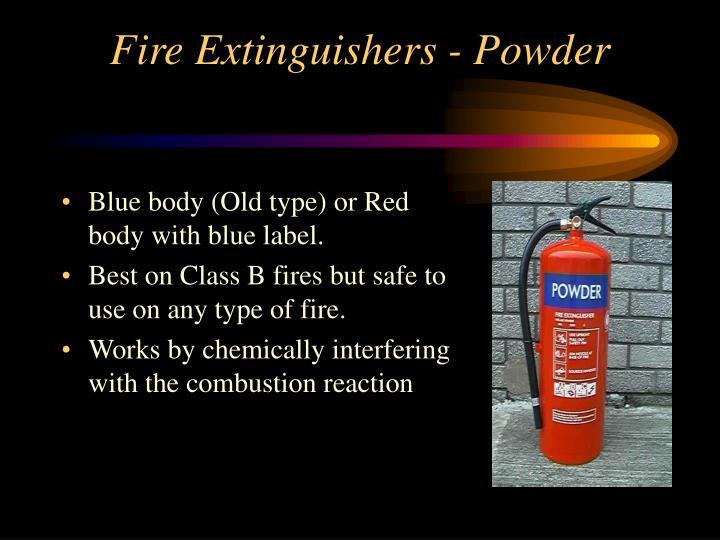 Fire Extinguishers - Powder