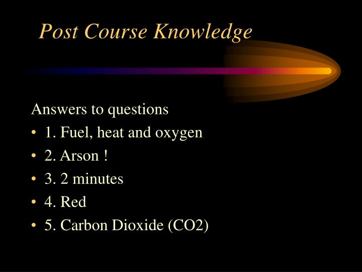 Post Course Knowledge