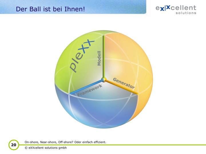 Der Ball ist bei Ihnen!