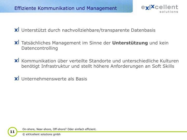 Effiziente Kommunikation und Management