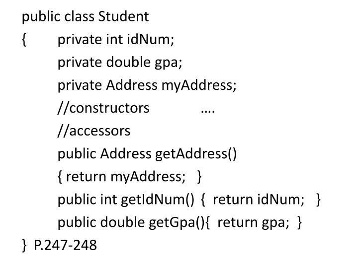 public class Student