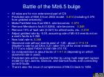 battle of the m 6 5 bulge