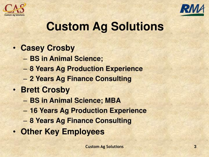 Custom Ag Solutions