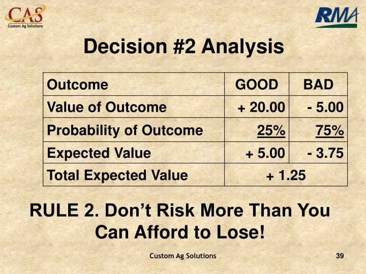 Decision #2 Analysis