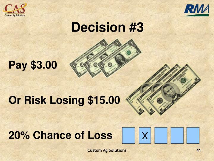 Decision #3