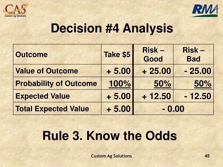 Decision #4 Analysis
