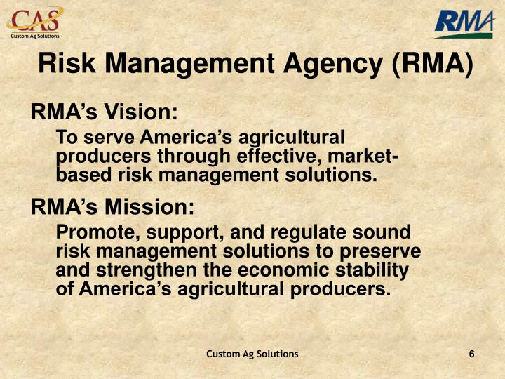 Risk Management Agency (RMA)