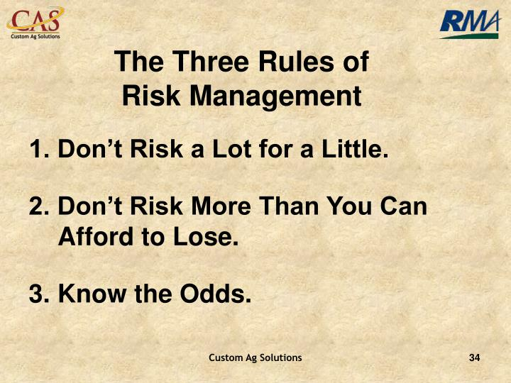 The Three Rules of