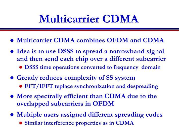 Multicarrier CDMA