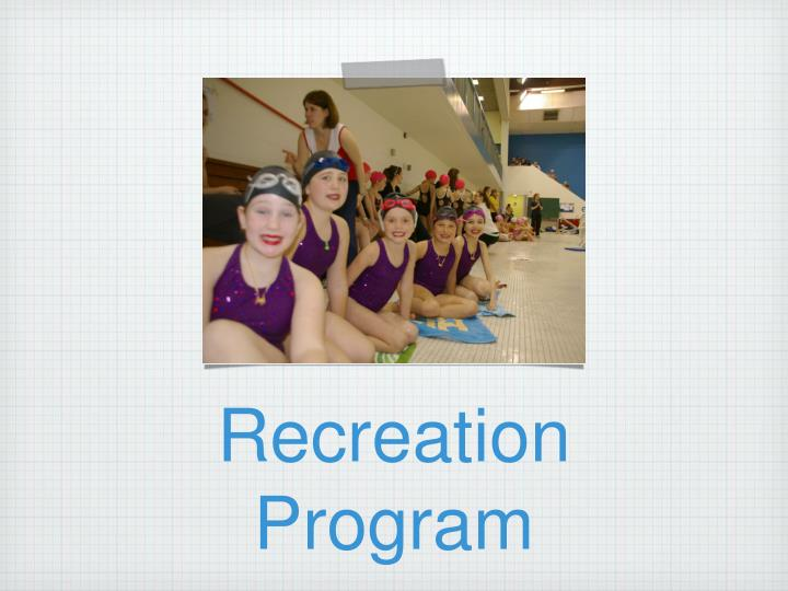 Recreation Program