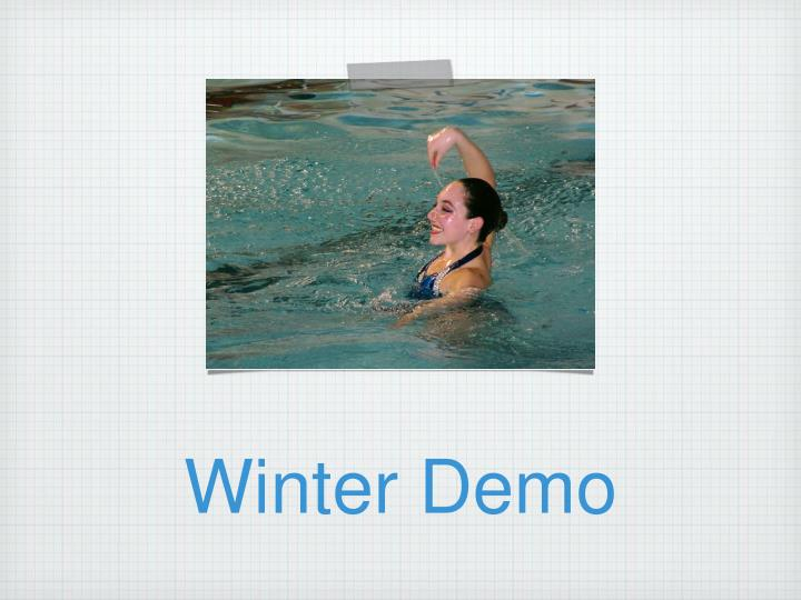 Winter Demo