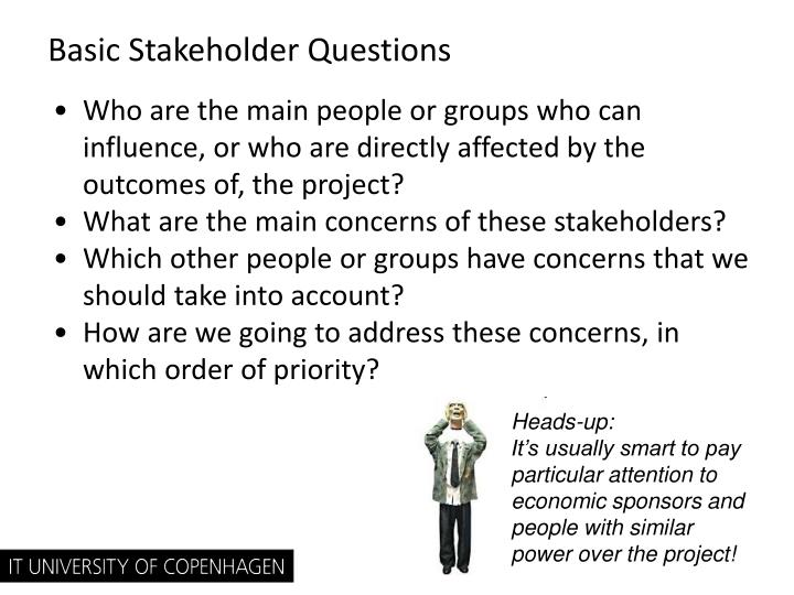 Basic Stakeholder Questions
