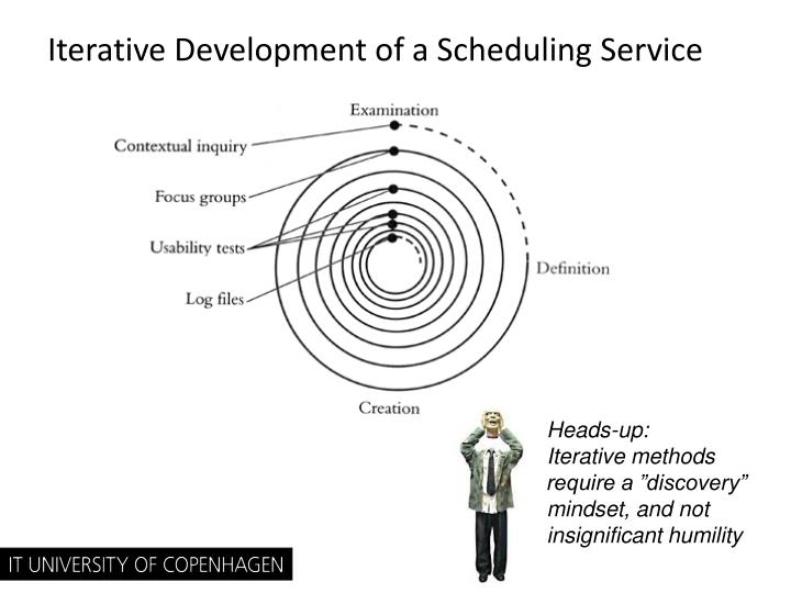 Iterative Development of a Scheduling Service