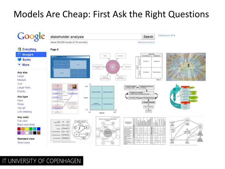 Models Are Cheap: First Ask the Right Questions