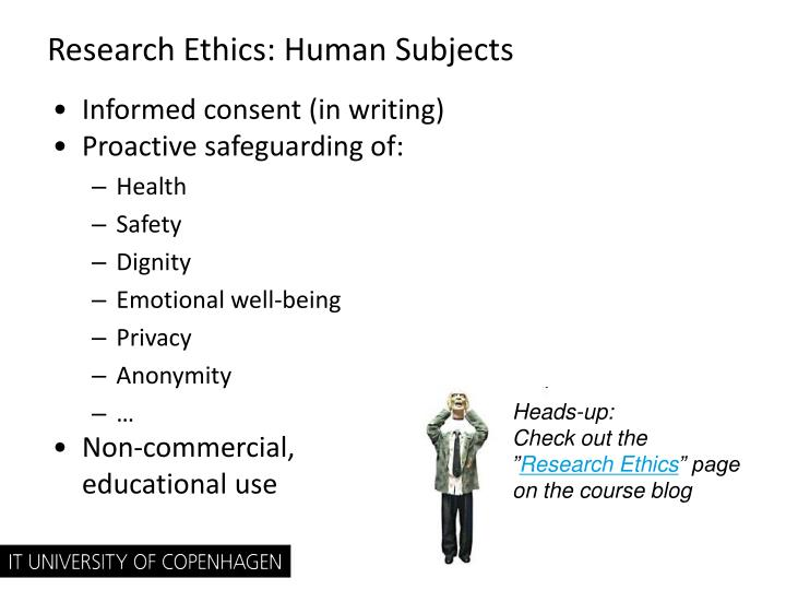 Research Ethics: Human Subjects