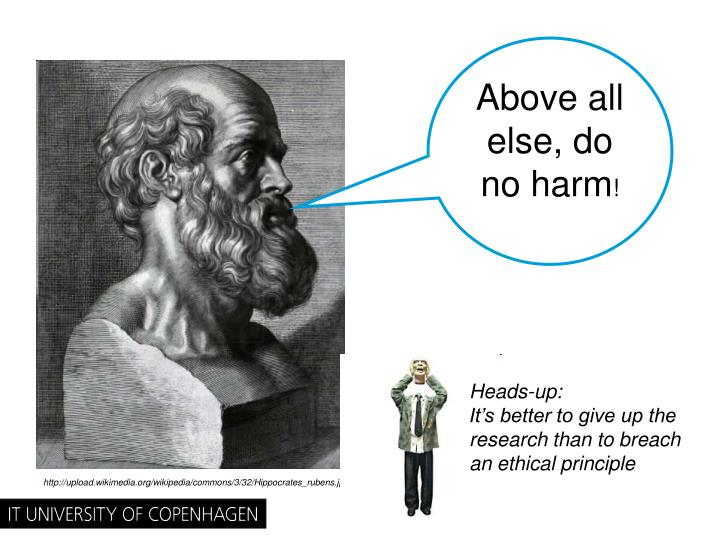 Above all else, do no harm