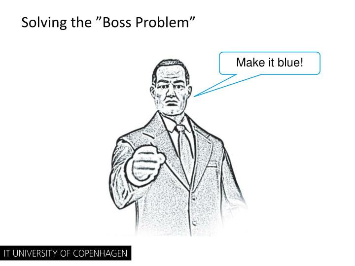 "Solving the ""Boss Problem"""