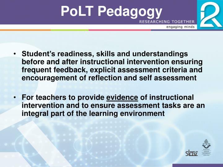 PoLT Pedagogy