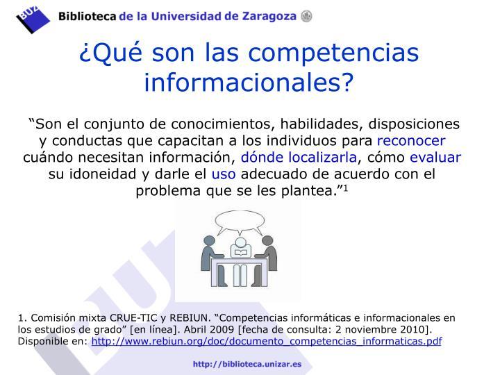 ¿Qué son las competencias informacionales?