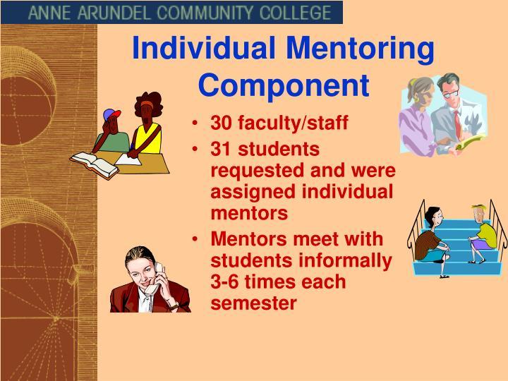 Individual Mentoring Component