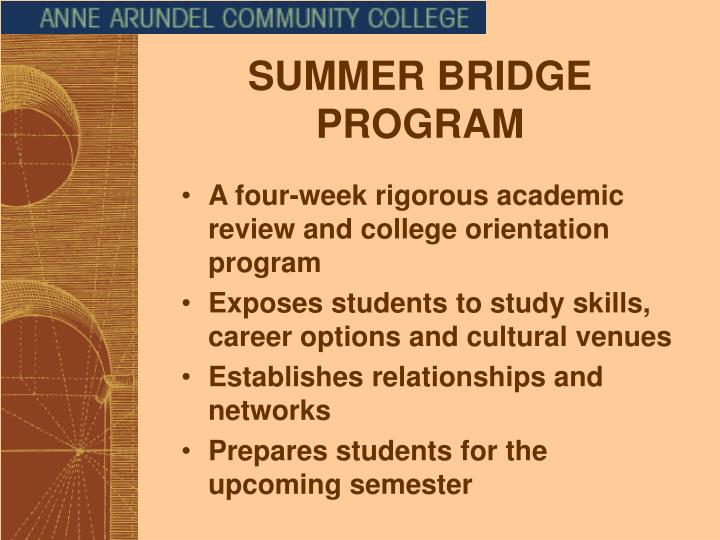SUMMER BRIDGE PROGRAM