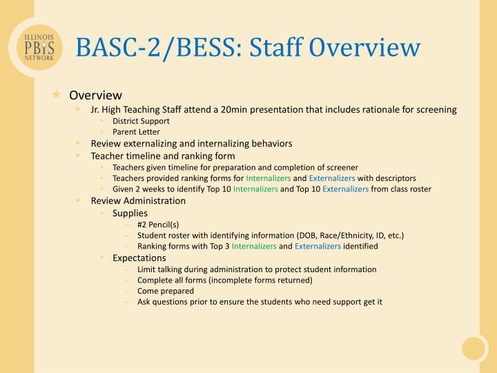 BASC-2/BESS: