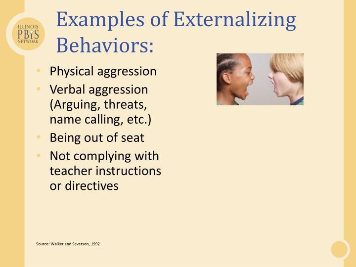 Examples of Externalizing Behaviors: