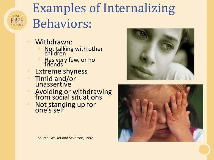 Examples of Internalizing Behaviors: