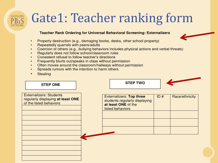 Gate1: Teacher