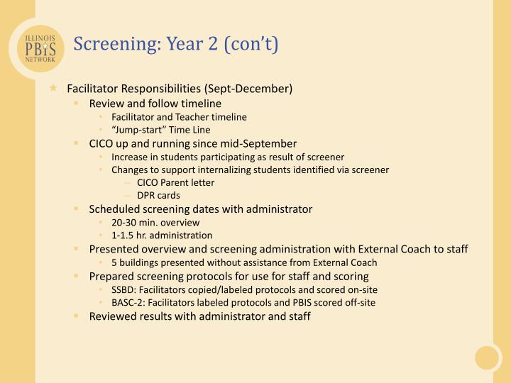 Screening: Year