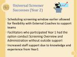 universal screener successes year 2