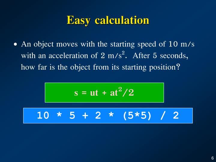 Easy calculation