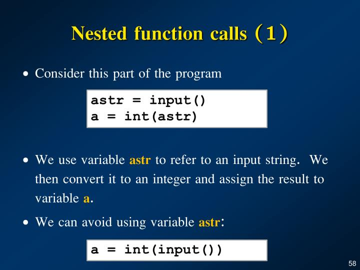 Nested function calls (1)