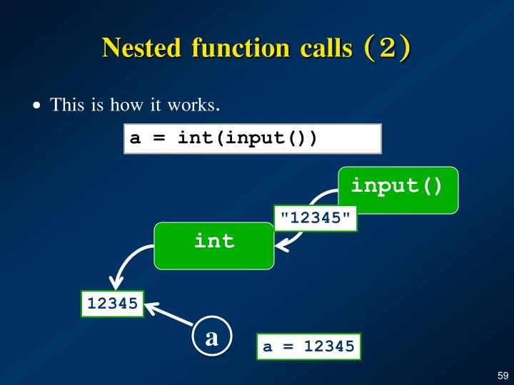 Nested function calls (2)