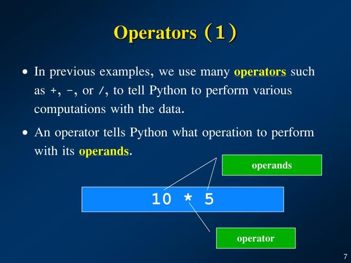 Operators (1)