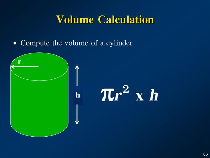 Volume Calculation