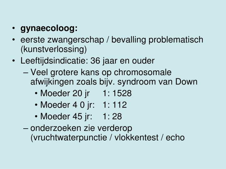 gynaecoloog:
