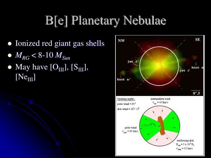 B[e] Planetary Nebulae