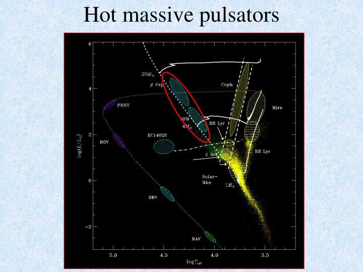 Hot massive pulsators