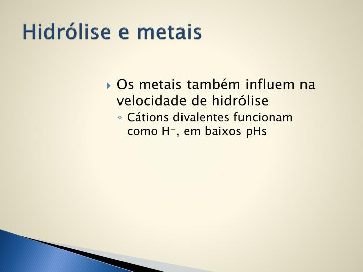 Hidrólise e metais