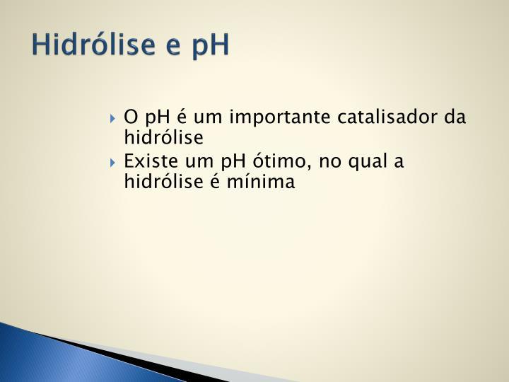 Hidrólise e pH
