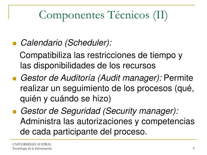 Componentes Técnicos (II)