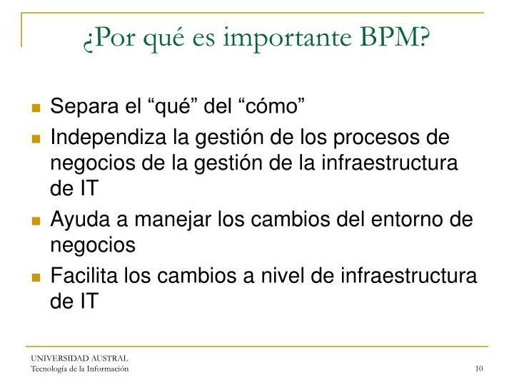 ¿Por qué es importante BPM?