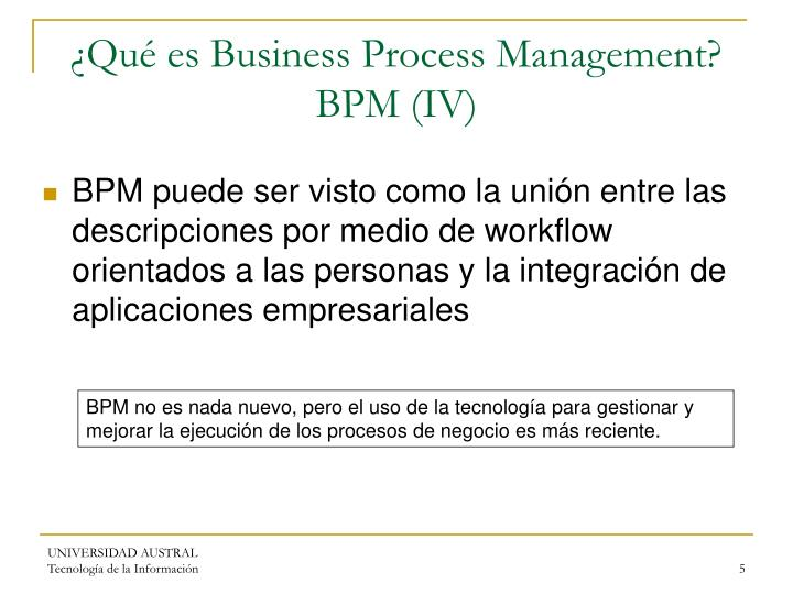 ¿Qué es Business Process Management? BPM (IV)