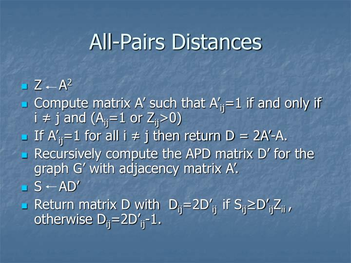 All-Pairs Distances
