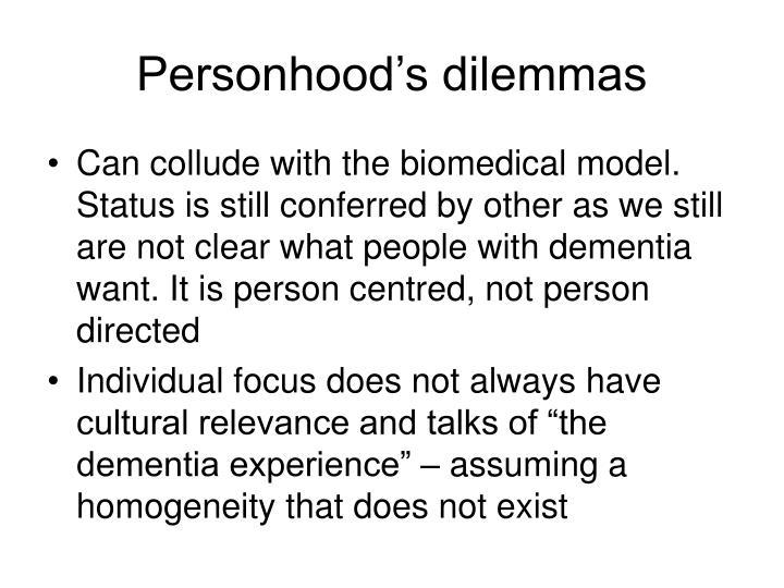 Personhood's dilemmas