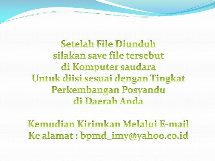Setelah File Diunduh