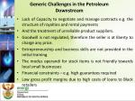 generic challenges in the petroleum downstream