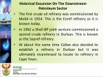 historical excursion on the downstream petroleum sector3