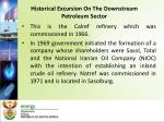 historical excursion on the downstream petroleum sector4